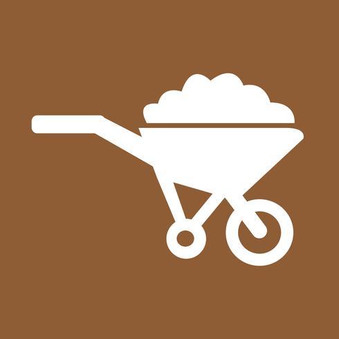 Schubkarrenwarenkorb-Ikonensymbol Illustration
