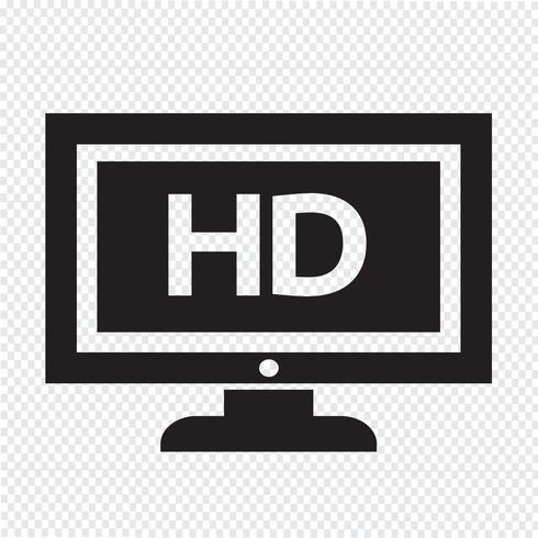 Conception de l'icône HD tv Illustration