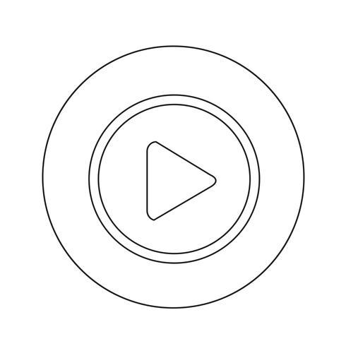 speel knop pictogram ontwerp illustratie