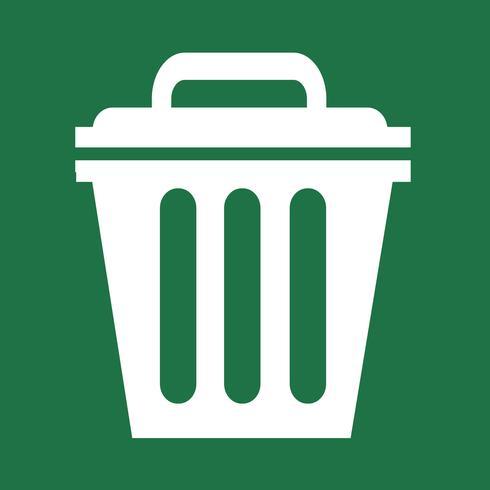 Trash can icon symbol Illustration