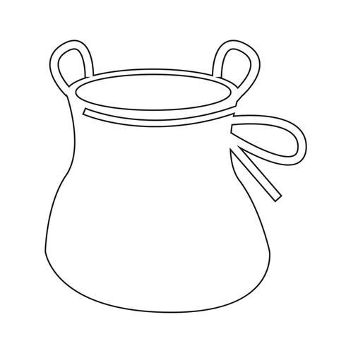 Kreide-Taschenaufstiegs-Ikonendesign Illustration