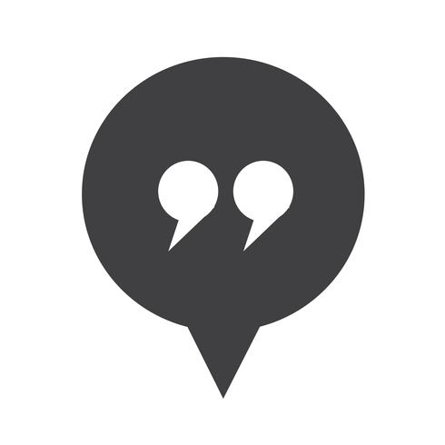 icône de dialogue symbole