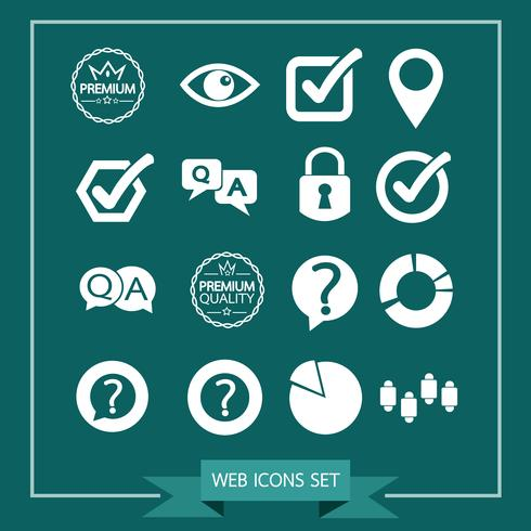 Reihe von Web-Icons für Website und Kommunikation