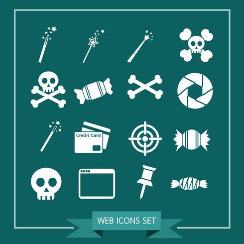 Set av webbikoner för webbplats och kommunikation