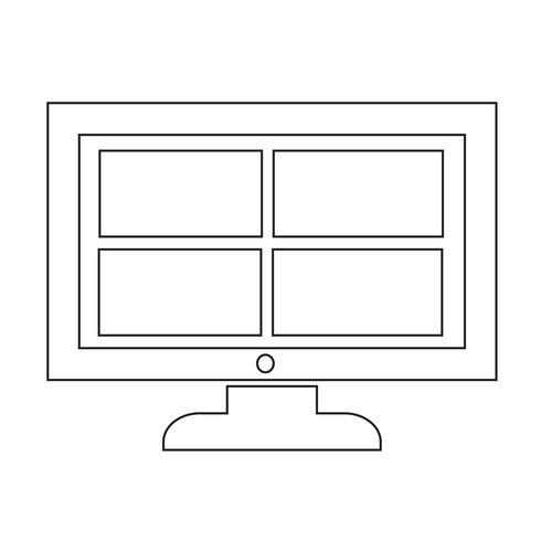 Conception de la chaîne tv icône Illustration
