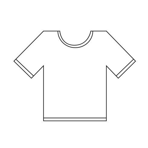 Icono de camiseta símbolo de signo