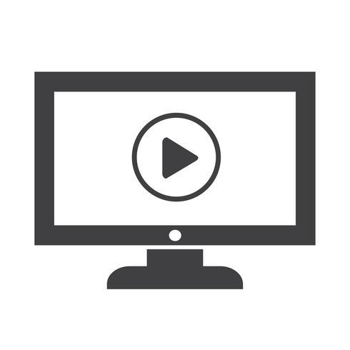 jouer bouton tv icône design Illustration vecteur