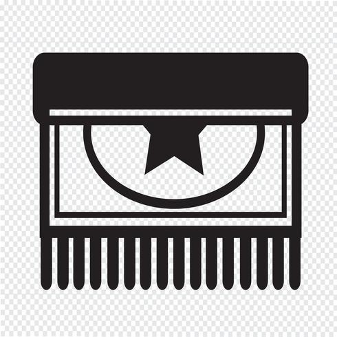 Alfombra icono diseño ilustración