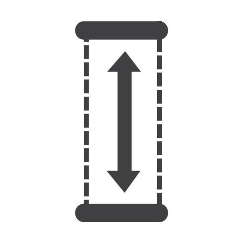 Illustrazione di disegno dell'icona di altezza