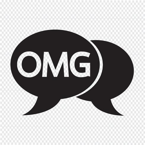 OMG Internet-Akronym-Chat-Blasenillustration