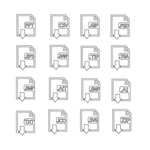 Files Format Icon Set vector