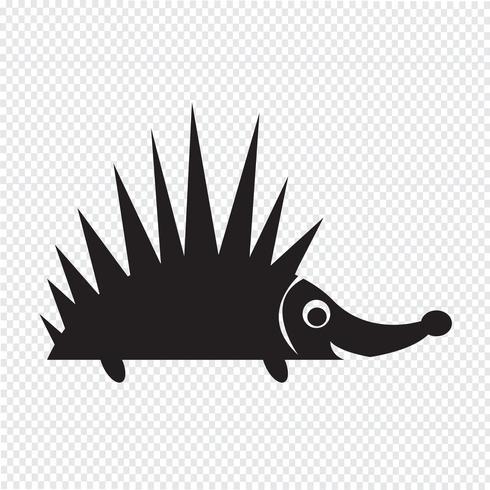 Sinal de símbolo de ícone de ouriço