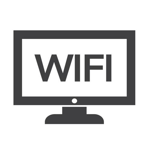 wifi Fernsehikonen-Design Illustration