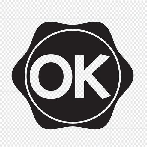 Botón OK signo de símbolo