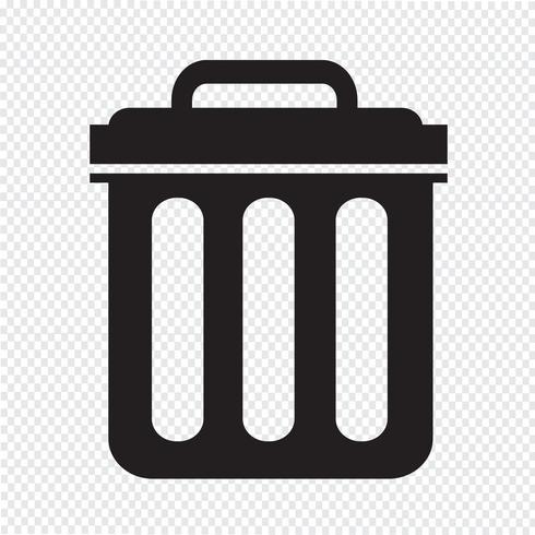 Poubelle icône symbole Illustration