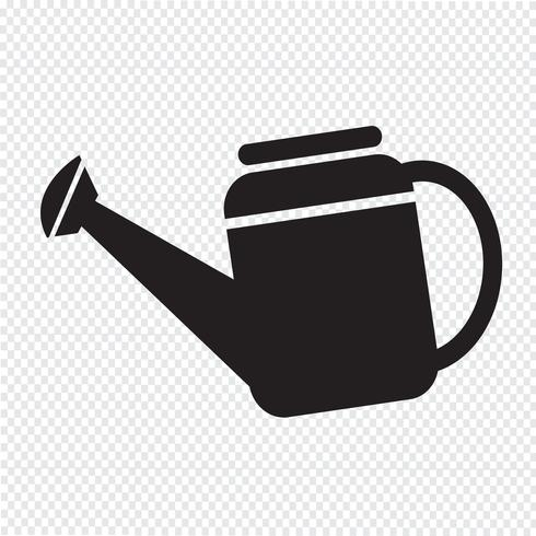 Watering Can icon symbol Illustration