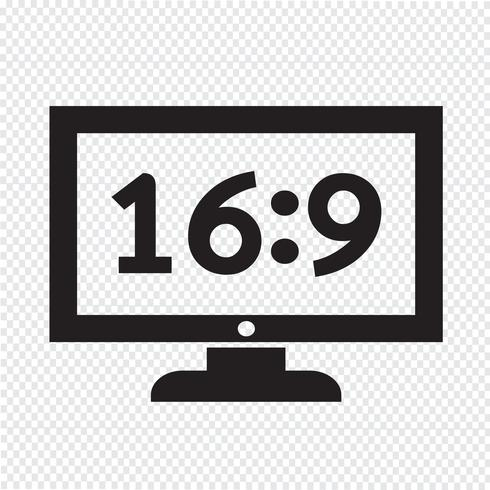 illustrazione di disegno dell'icona della TV