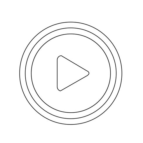 play button icon design illustration
