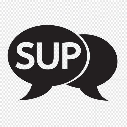 SUP internet acronym chat bubble illustration