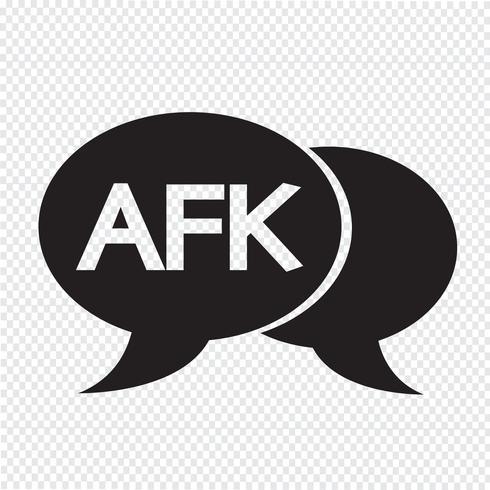 AFK-Internet-Akronymchat-Blasenillustration