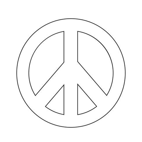 illustrazione dell'icona simbolo pace hippie