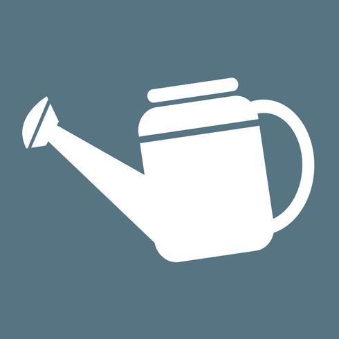 Illustrazione di simbolo dell'icona dell'annaffiatoio