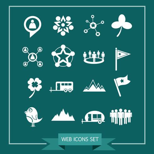 Set di icone web per sito Web e comunicazione