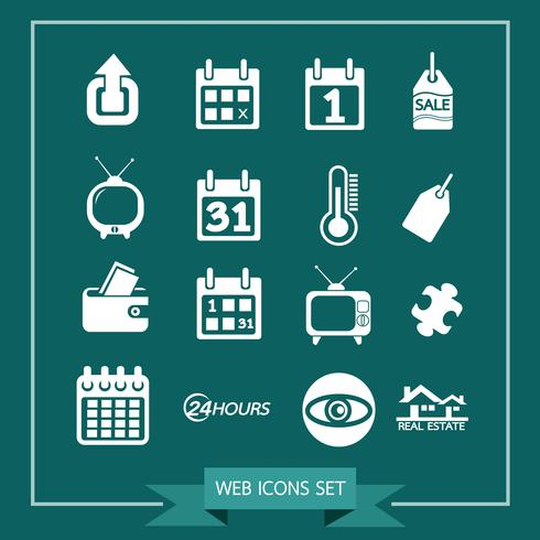 Conjunto de ícones da web para o site e comunicação