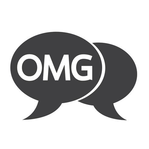 OMG internet acroniem chat bubble illustratie