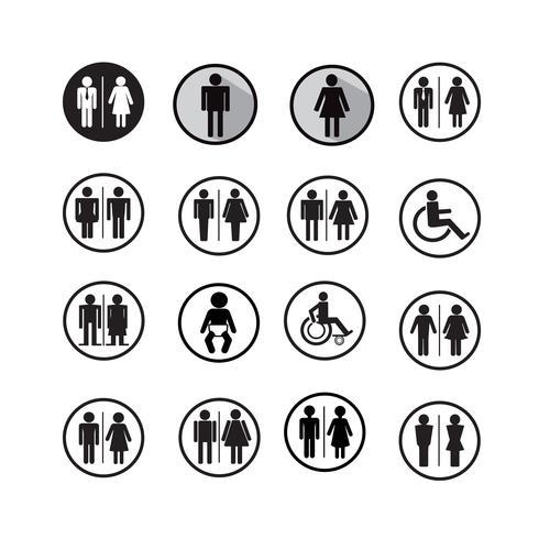 Silhouet mensen pictogrammen illustratie