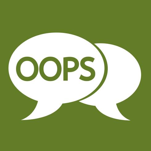 OOPS internet acroniem chat bubble illustratie