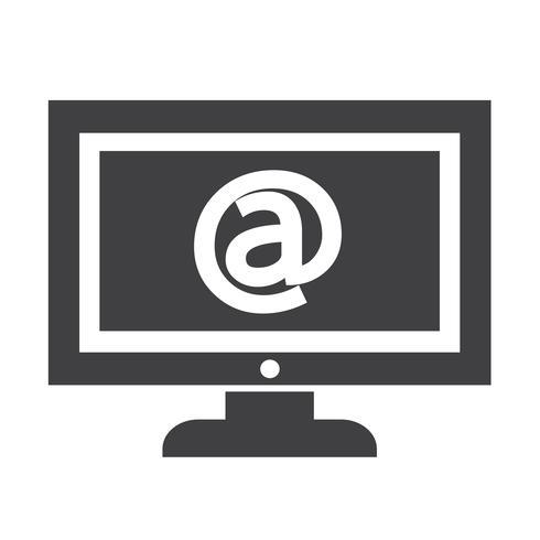 illustration de conception icône tv vecteur