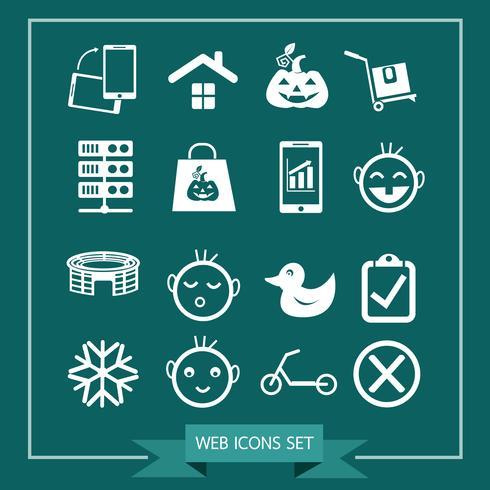 Conjunto de iconos web para web y comunicación.