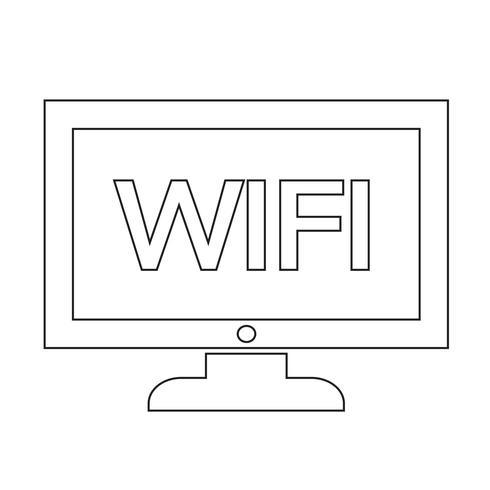wifi tv icon design Illustration