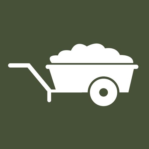Kruiwagen kar pictogram symbool illustratie