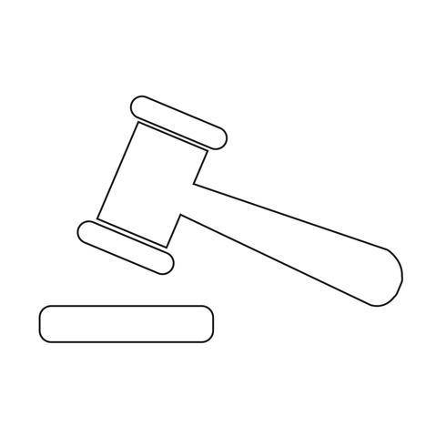auction icon sign illustration