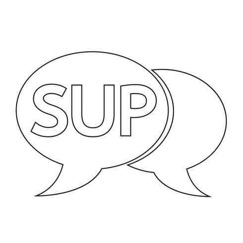 SUP internet acroniem chatbel illustratie