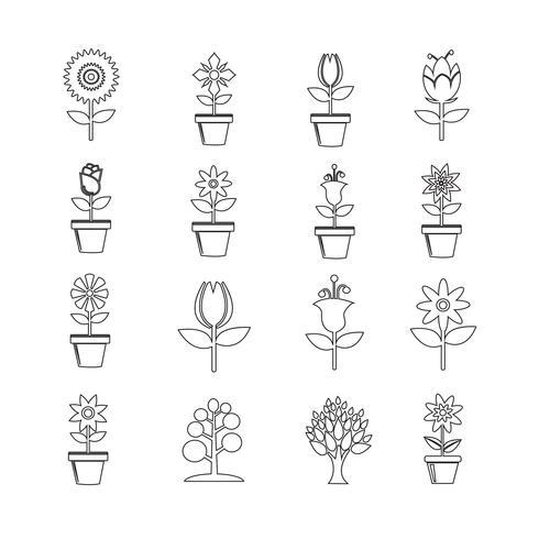 Flower Icon Set for website