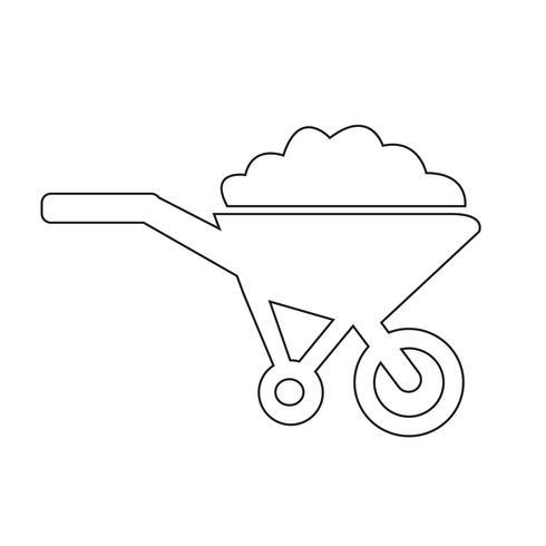 Carrinho de mão carrinho ícone símbolo ilustração vetor