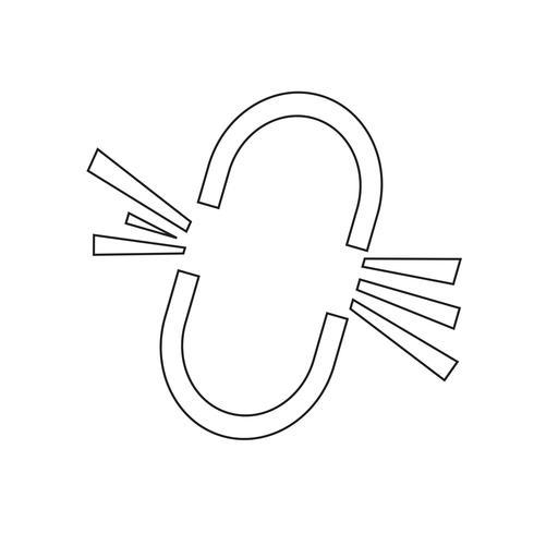Unterbrochene Verbindungs-Ikonenauslegung Abbildung