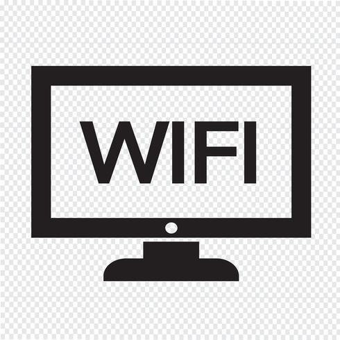 conception d'icône wifi tv Illustration