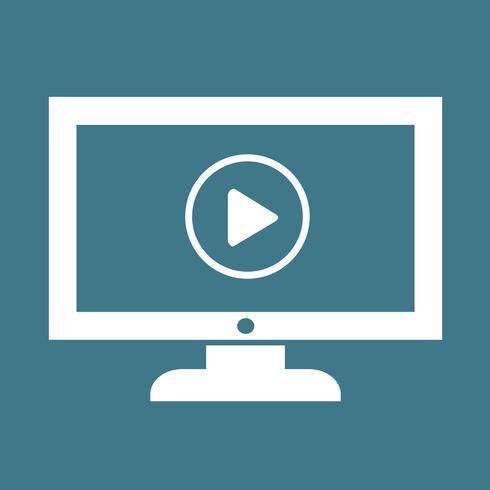 play button tv icon design illustration