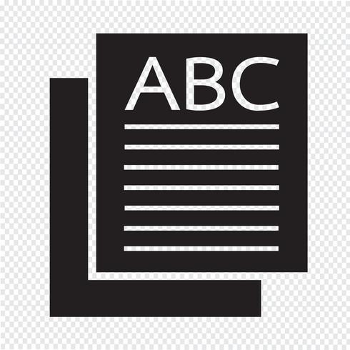 sinal de ícone de página ilustração vetor