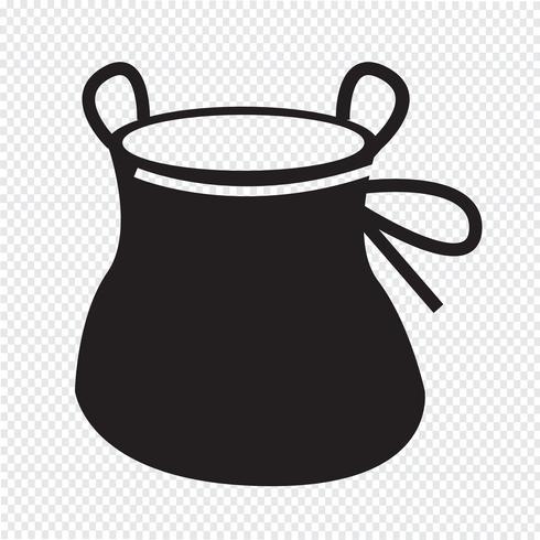 Illustrazione di progettazione dell'icona di salita della borsa di gesso