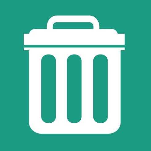 Bote de basura icono símbolo ilustración