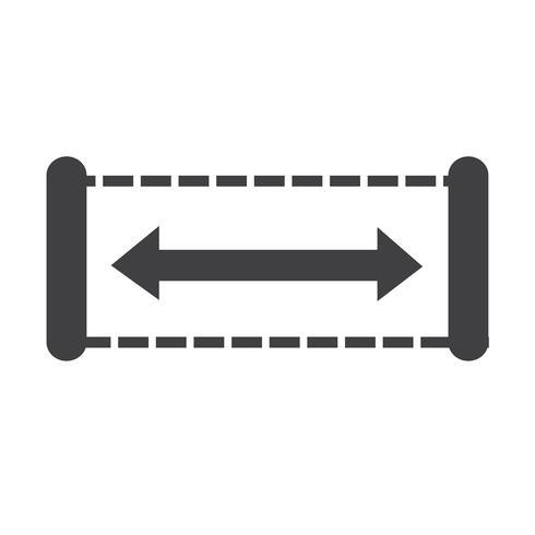 Breedte pictogram ontwerp illustratie