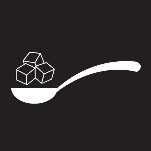 sinal de símbolo de ícone de açúcar vetor