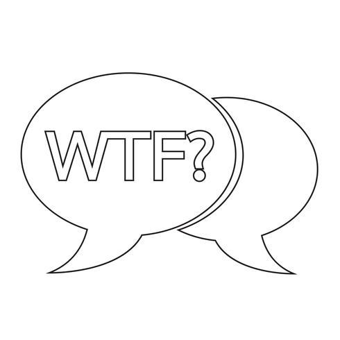 ilustração de bolha de bate-papo de internet sigla