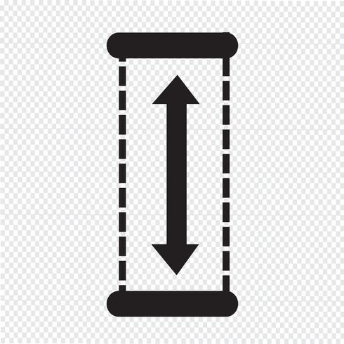Hoogte pictogram ontwerp illustratie