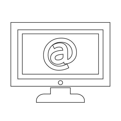 illustration de conception icône tv
